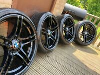 "Genuine BMW 3 Series 19"" M Sport Alloy Wheels & Run Flat Tyres E90 E91 E92 E93 BBS 313 Performance"