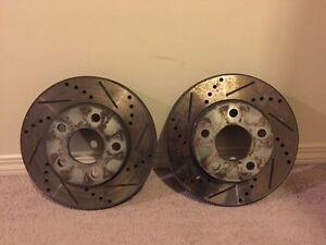 Pair of front rotor