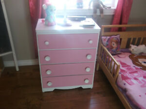 Beautiful Pink  and White Bureau For a Princess