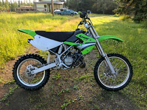 2005 KX100: Modified for taller rider