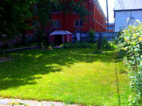 RARE!  HUGE BACKYARD- 2 Bdrm in Safe, Quet DT Simcoe Bldg- $715+