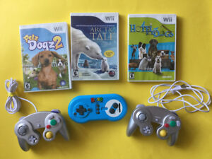 Wii, Manettes Style Gamecube - Artic Tale, Petz, Hotel dogs