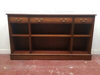 Long and narrow vintage bookcase