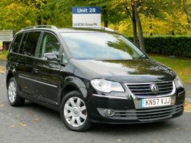 2007 57 Volkswagen Touran 2.0TDI 140 7st Sport WITH F/S/H+FULL LEATHER+SATNAV++