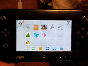 Wii U - Gamepad - Black. Great Replacement, for use with Wii U
