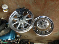 2008 CVO chrome wheel complete with rotor