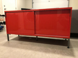 Red CB2 Credenza /Sideboard