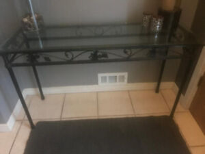 Glass hall table - excellent condition