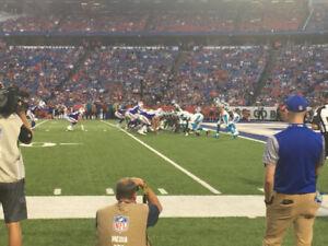 Buffalo Bills Season Tickets Visitor Sideline Section 108 Row 1