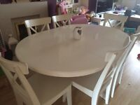 Ikea Liatorp dining table and 6 chairs