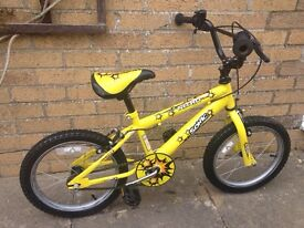 Ideal kids first bike for sale - Sonic Nitro 16' bright yellow