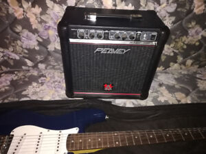 Selling a Fender Squier electric guitar and Peavey amp. $225