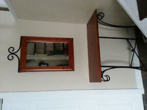 Table and Mirror set