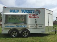 Refrigerated event trailer