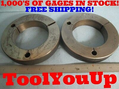 3 38 16 N 3 Go No Go Thread Ring Gages 3.375 P.d.s Are 3.3344 And 3.3296 Tool