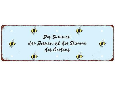 Bienen Summen (METALLSCHILD Blechschild DAS SUMMEN DER BIENEN Imker Garten Shabby Spruch Hobby)
