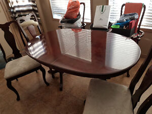 Solid Cherry Wood Dining Table (c/w 5 chairs)
