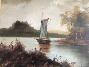 Large Dutch Oil Painting