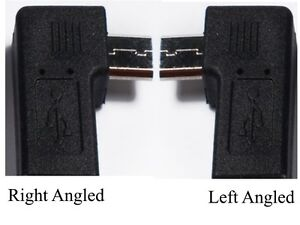 90 Degree Left Right Angle USB Micro Male to Micro Female Plug Adapters UK A006
