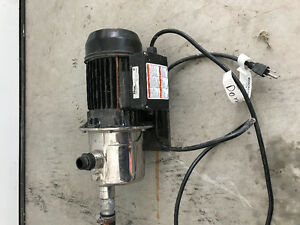 Portable utility water transfer pump, used