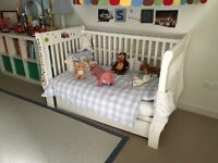 The little White Company Classic Sleigh Cot Bed