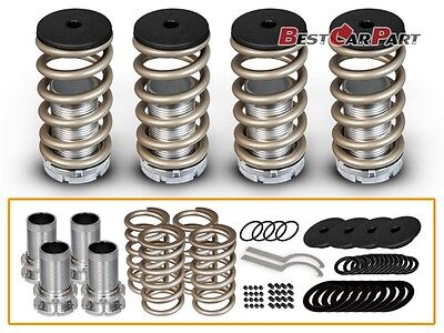 01 Lowering Spring Kit - BCP Gold 96-00 Honda Civic Adjustable Lowering Coilover Coil Spring Kit