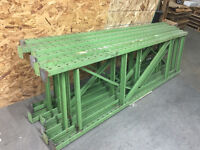 """Racking 36"""" wide x 12 ft high frames with 10 ft long beams"""