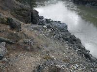 Placer gold claim on Fraser river at Kanaka Bar