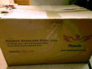 "Pheonix 10"" Bar Sink Phoenix PLZ-03 Undermount 18 Gauge"