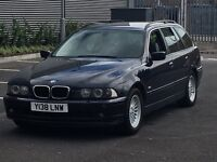 2001 BMW 525I SE TOURING AUTOMATIC MOT AND TAX DRIVEAWAY