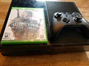 Xbox 500GB One With Controller & The Witcher 3, $220