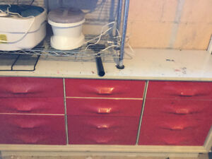 Old retro dresser set made in Canada