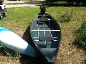 15 foot canoe and motor for sale