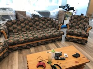 Couch, Loveseat and Rocking Chair Set