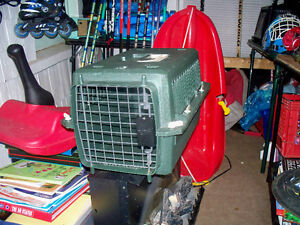 SMALL CAT CARRIER AND LARGE BUGGIE BIRD CAGE