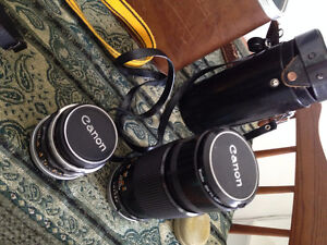 Vintage Canon FX Camera Collection with Custom Leather Bag Cambridge Kitchener Area image 4