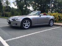 Honda S2000 65k FSH! silver stone, red leather interior, factory hardtop fitted