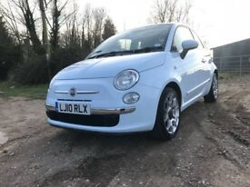 2010 Fiat 500 1.2 Lounge, ✅Only 16k miles/Full service/1 Year MOT✅