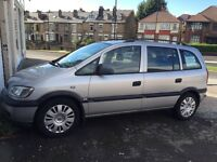 (54) Vauxhall Zafira 1.6 Petrol, 7 seater, good condition,75k Miles MOT July 2017