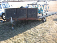 Drive on /Drive off Double v nose snowmobile trailer** $1450**