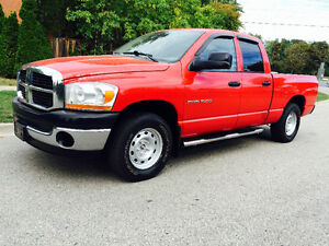 2006 DODGE RAM 1500 CREW CAB RARE 6 SPEED MANAUL 4X4!!!!!