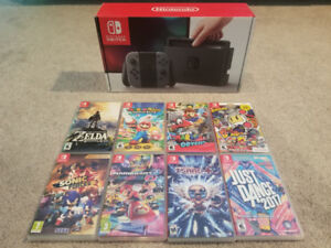 Nintendo Switch and 8 Games Bundle