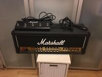 Marshall JCM 2000 super triple lead TSL 100 aplifier head + foot pedal