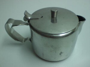 Tea Pot - Stainless Steel - individual size 12ozs.  - USED