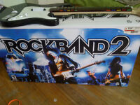 Rock Band 2 Bundle Wireless Guitar and Drums w/ Box No Game