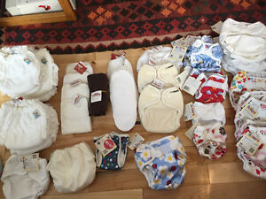 Assorted Diapers and accessories