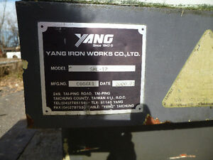 C-12 YANG IRON WORKS CO. LTD. C&C MACHINE FOR SALE London Ontario image 2