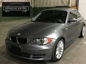 2009 BMW 128i Sport+Prem Package-Red leather-Paddle Shifters