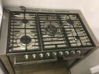 Heavy duty stainless steel, Range Gas Cooker five burners