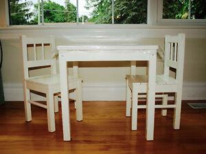 Table en bois pour enfants - Kids wooden table